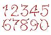 情人节号码 | 向量插图
