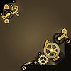 ID 3173847 | Steampunk mechaniczne tło | Klipart wektorowy | KLIPARTO