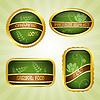 Grüne Etikette mit Streifen