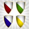 ID 3348220 | Zestaw czterech tarcz | Klipart wektorowy | KLIPARTO
