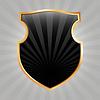 黑盾 | 向量插图