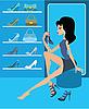 Geschäft von weiblichen Schuhwerk