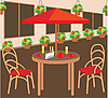 ID 3142596 | Lato Street Cafe | Klipart wektorowy | KLIPARTO