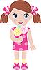 Kleines Mädchen mit Zucker Bonbons