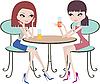 Zwei Freundinen im Café