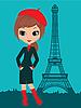 Hübsches Mädchen in París