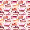 Nahtloses Muster mit Kuchen