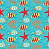 Nahtloses Muster von Fischen