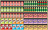 Regale mit Lebensmitteln | Stock Vektrografik