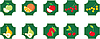 Früchte. Set von Icons. | Stock Vektrografik