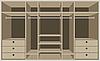 Векторный клипарт: Гардеробная комната. Мебель