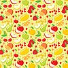 Nahtloses Muster von Früchten