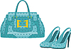 Kobieta torba i buty | Stock Vector Graphics