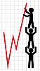 경제 지표의 리프팅의 상징적 인 이미지 | Stock Vector Graphics