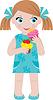 Dziewczynka z posypką | Stock Vector Graphics
