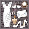 Mode Set mit einem Kleid | Stock Vektrografik