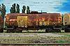 ID 3155698 | Zug transportiert alten Tanks | Foto mit hoher Auflösung | CLIPARTO