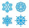 Символы снежинок | Векторный клипарт