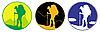 Эмблема путешественника | Векторный клипарт