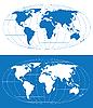 Карта мира | Векторный клипарт