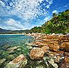 ID 3144352 | Wybrzeże z tropikalnego oceanu - Tajlandia | Foto stockowe wysokiej rozdzielczości | KLIPARTO