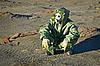 ID 3146475 | Naukowiec w ochronnej masce gazowej i garnitur | Foto stockowe wysokiej rozdzielczości | KLIPARTO