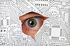 ID 3147510 | Oko patrząc przez otwór w układzie elektronicznym | Foto stockowe wysokiej rozdzielczości | KLIPARTO
