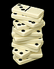 ID 3148161 | Turm aus Dominosteinen | Foto mit hoher Auflösung | CLIPARTO