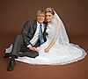 행복 새로 결혼 커플 | Stock Foto