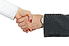 Hand shake of man and woman background | Stock Foto