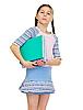 ID 3153687 | Schülerin mit Büchern | Foto mit hoher Auflösung | CLIPARTO