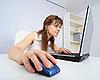 ID 3156658 | Amüsante Frau mit Laptop | Foto mit hoher Auflösung | CLIPARTO