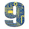 ID 3156740 | Digit płytce elektronicznej | Stockowa ilustracja wysokiej rozdzielczości | KLIPARTO