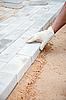 ID 3159603 | Installation von Ziegel-Plattform - Ziegelsteine \u200b\u200bauf Sand | Foto mit hoher Auflösung | CLIPARTO