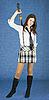 카타나 젊은 여자 | Stock Foto