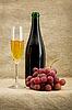 ID 3165919 | Butelka szampana, kielich, winogron | Foto stockowe wysokiej rozdzielczości | KLIPARTO