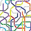 Abstraktes nahtloses Pattern - U-Bahn-Plan