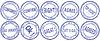 Set mit runden Geschäft Briefmarken -