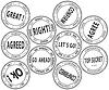 Set von bürokratischen Briefmarken -
