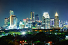 밤에 도시. 태국, 방콕, 센터 | Stock Foto