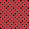 Seamless red and black pattern