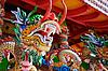 龙 - 在中国寺庙的雕像 | 免版税照片