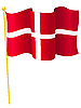 Vektor Cliparts: Nationalflagge von Dänemark