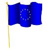 Vektor Cliparts: nationalen Flagge der Europäischen Union