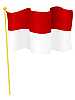 Vektor Cliparts: Flagge Indonesien