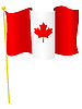 Vektor Cliparts: Flagge von Kanada