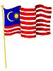 Vektor Cliparts: Flagge von Malaysia