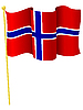 Vektor Cliparts: Flagge von Norwegen