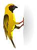 Vektor Cliparts: Yellow Bird