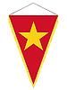 Wimpel mit der Nationalflagge von Vietnam